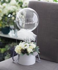 フラワーバルーン:お花お任せW×G【トピアリーtype】