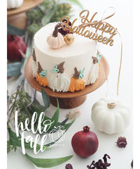 WhipClayCakeLesson:Pumpkin Decoration【レッスンキット・動画】★☆☆