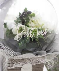 フラワーバルーン:お花お任せW×G【バスケットtype】