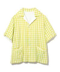 NAISSANCE gingham pile reversible shirt