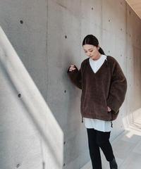 JUN MIKAMI alpaca pile liner pullover