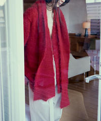 JUN MIKAMI mohair cardigan & scarf