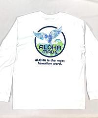 ロングスリーブTシャツ ホワイト (メンズサイズ)バックプリント ハワイアンファクトリー