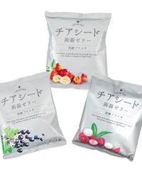 <<定期便>> チアシード蒟蒻ゼリー発酵プラス (カシス、カムカム、ライチ 各4袋)