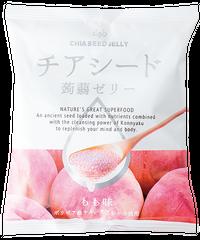 【期間限定1袋おまけキャンペーン】New!!チアシード蒟蒻ゼリー もも味 (ケース 12袋入り)