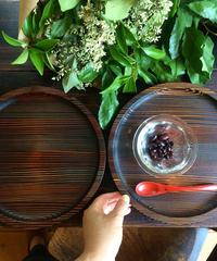 【新作】漆の丸盆(24cm)杉の木クラフト