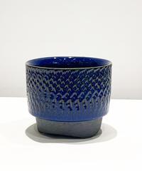 陶器鉢 トビカンナ模様 white  / yellow/blue(別注)/ green