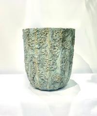 【鉢】ancient pot cover  mint &gold
