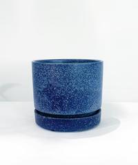 【植木鉢】MAT LOW POT brown / blue φ 12