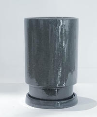 "GLAZED TALL POT /gray  ""  LL """