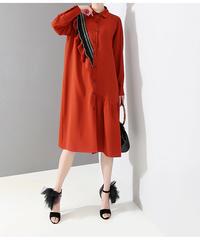 フリルミディシャツドレス(X-550)