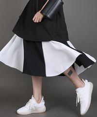 バイカラースカート(E-140)