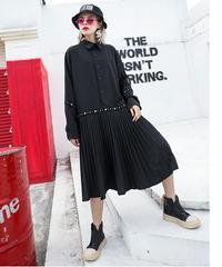 【LONDA】パンクリベットシャツドレス(X-457)