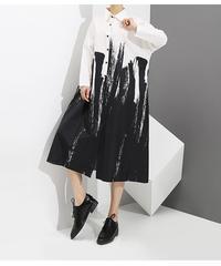 ホワイトカジュアルシャツドレス(E-247)