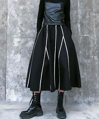 ブランチパターンフレアスカート(X-379)