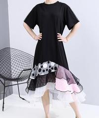マルチプルプリーツデザインドレス(DA-021)