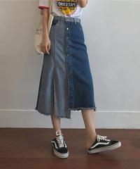 2トーンデニムスカート(SA-013)
