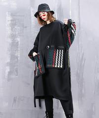 【LONDA】ツイードポケットルーズドレス(E-742)
