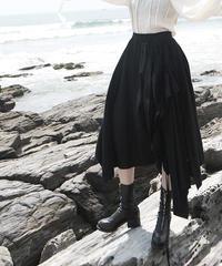 【LONDA】ブラックフリルアシンメトリースカート(E-691)