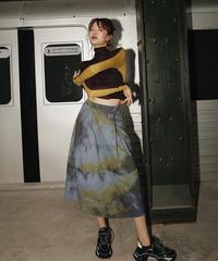 ヴィンテージプリントAラインスカート(X-372)
