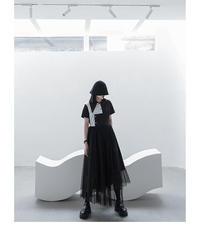 モノトーンオーガンジーカバードレス(DA-201)