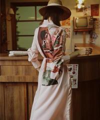 オリエンタルバックプリントシャツドレス(S-170)