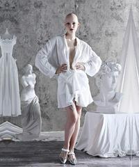 【LONDA】ターンダウンホワイトシャツドレス(E-489)