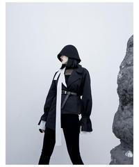 ブロックフレアスリーブショートジャケット(S-007)