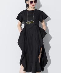 ルーズフリルゴージャススリットドレス(S-179)