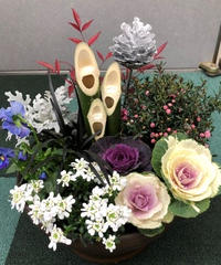 門松寄せ植えYouTube講習会用の花材セット 12月19日ご来場引渡し