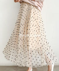dot tulle skirt