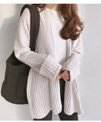 rib knit cardigan