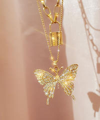 3chain🦋Butterfly🦋ネックレス