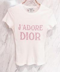 VINTAGE   DIOR  ピンクトロッターロゴ Tシャツ