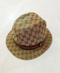VINTAGE  GUCCI GGキャンバス ハット
