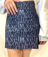 アルファベットロゴデニムスカート