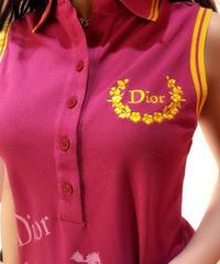 VINTAGE  Dior  ノースリーブポロ