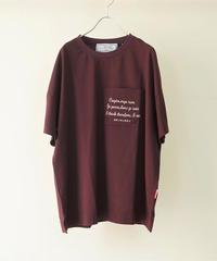 20AW Big T-shirt 我思う故に我あり【2203859】