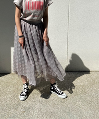 mesh long skirt【2202613】