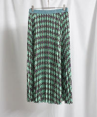 print pleats skirt【2211603】