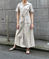 safari shirt one-piece【2202406】