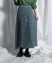 geometric pleats skirt【2211607】
