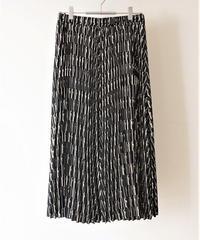 hand writing pleats skirt【2194616】