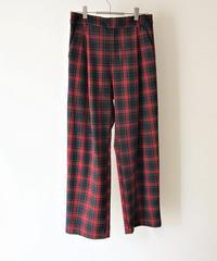 check tuck pants【2204306】