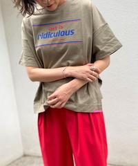 side slit T-shirt art is redicurous【2201856】