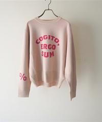 jacquard logo knit COGITO【2203705】