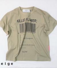 Short T-shirt KILLED FLOEWER;【2201852】