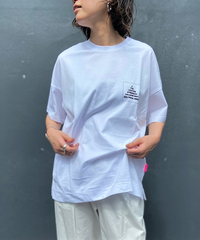 side slit T-shirt  【2202868】
