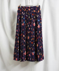 lip print pleats skirt【2211606】