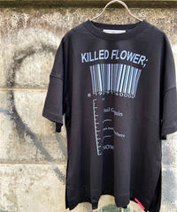 side slit T-shirt KILLED FLOEWER;【2201857】